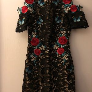 PrettyLittleThing Dresses - Pretty little thing  floral valentines dress Sz 4
